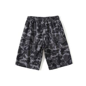 Summer New Men's Sports Purple Camo Casual Shorts Pants Men Women Print Loose Hip Hop Beach Shorts