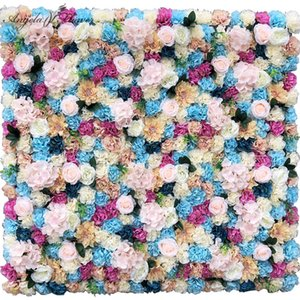 Custom Artificial Flower Wall Panel 3D Wedding Backdrop Decor Flower Wall Photography Props Arrangement Display Silk