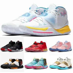 Kyrie 6 N 7 Neon Graffiti Bruce Lee tênis de basquete Vendas Ásia Irving Mens Conceitos de Ouro da Múmia Khepr Sports Trainers Sneakers Tamanho 40-46