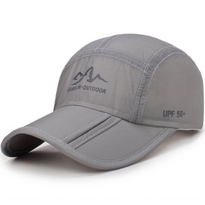 Folding brim new printing sports cap outdoor quick-drying sun Hat sun hat breathable fabric outdoor sunshade cap