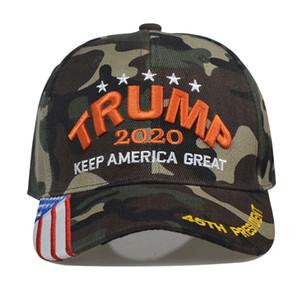 15styles Trump Baseballmütze Keep America Great Again Caps 2020 Kampagne USA 45 Flaggehut Leinwand gestickte Partei-Hüte GGA3611-2