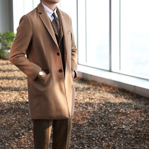 2020 The New European-Style Classic Casual Business Loose Exquisite Luxury Warm Woolen Coat Mens All-match Retro Gentleman Coat Fashion