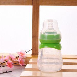 New Cute Baby Newborn Nursing Nipple Bottle Safety Silicone Pacifier Milk Water Bottles Children Infant Feeding 150ml For Baby VpnE#