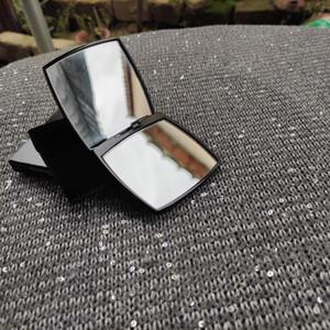 Hediye Kutusu ve kadife toz torbası ile Yeni moda Makyaj Ayna Mark Vintage tarzı çifte Facette moda c Kozmetik Araçları