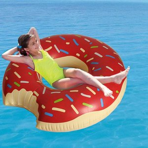 Fun Summer Things Cute Pink Donut Inflatable Floats Gigantic Swimming Ring Summer Water Fun Pool Toys Pool Float For Adult
