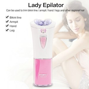 2016 Kemei 1999 Electric Epilator Battery Electric Shaver Depilatory Removal Female Body Foot Bikini Face Underarm Titanium Blade osFfg