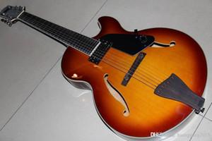 Yap Toptan Yeni Özel Model 7 Dize Caz Elektrik gitar Yarı Hollow Üst Kalite In Sunburst 120930
