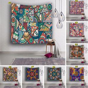 153 * 130 centimetri poliestere Tapestry Flower Stampa di yoga stuoia di picnic del tovagliolo di stampa Tapestry Hanging ARAZZO Home Decor 8 colori DHB929