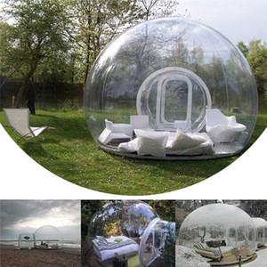 Al aire libre único túnel inflable burbuja tienda de la familia del patio trasero camping carpa transparente soplador inflable de la burbuja 2 personas