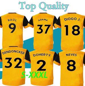 S-XXXL 20 21 Wolves soccer jersey MAN kit Home yellow J. MOUTINHO RAUL NEVES PODENCE football shirts DENDONCKER ADAMA new Wolves
