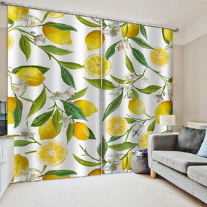 Fashion fruit curtains Window Blackout Luxury 3D Curtains set For Bed room Living room