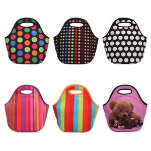 10 Farbe Snorchelmaterial Lunch Bag Wasserdichte Isolierung Mittagessen-Mittagessen Tasche tragbaren Picknick-Taschen XD23712