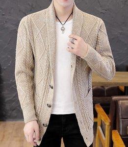 새로운 스타일의 패션 긴 소매 카디건 남성의 스웨터 코트 2020 봄과 가을