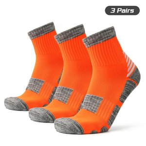 3 Pairs Unisex Sports Socks Anti Slip Sports Performance Socks Athletic Basketball Soccer Running Climbing Trekking