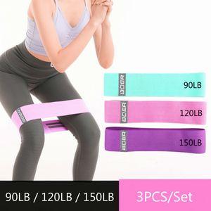 heap Resistance 3pcs set 90-150LB Resistance Bands Set Pull Rope Rubber Elastic Bands for Fitness Gym Equipment Exercise Yoga Workout Bo...