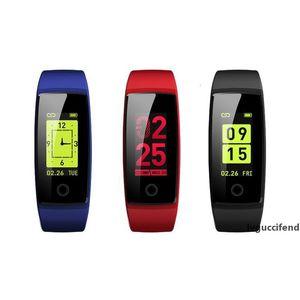 Presión pulsera inteligente V10 monitor de ritmo cardíaco Sangre color de la pantalla de Smart Band pulsera de Actividad rastreador de ejercicios podómetro colorido SmartBand