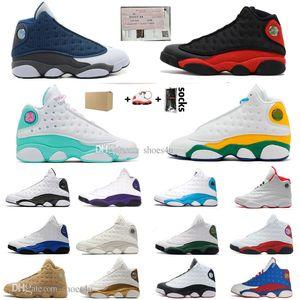 13 nuevos 13s sílex Bred zapatos CNY baloncesto Chicago PE Inicio Capitán América Island Corte verde púrpura Lakers deportes para hombre zapatillas de deporte de diseño