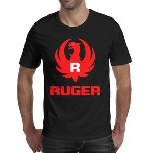 패션 망 루지 sturm 패치 블랙 라운드 넥 티셔츠 빈티지 스포츠 셔츠 로고 루 거 러그 로고가 sturm ruger america black에 의해 보호