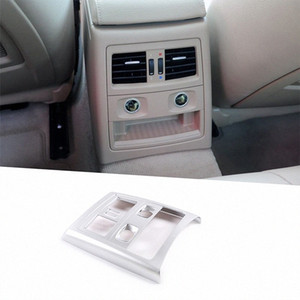 Para E90 Serie 3 2005 2012 ABS del coche del marco del aire acondicionado trasero interior Vent Recorte Accesorios 8cms #