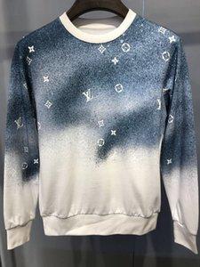 mens Xinxin Designer Camisolas Outono Hoodie Gradiente estrelado céu cópia pulôver gola manga longa casaco com capuz