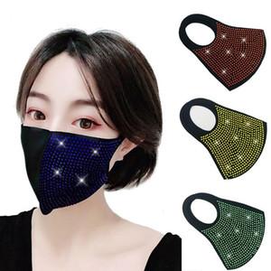 femmes colorées scintillantes Masque visage masques anti-poussière marée fête masque 4 soleil couleur Designer Masque T2I5932