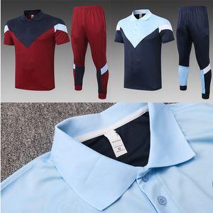 20 21 manchester soccer jersey polo shirts tracksuit long pants STERLING DE BRUYNE KUN AGUERO football jerseys short sleeve training suit