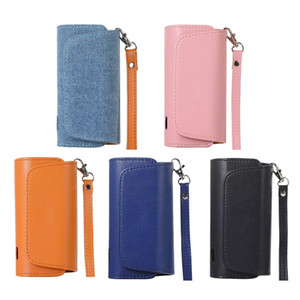 Caso della copertura protettiva di caso Nuova Elettronica Titolare di trasporto di cuoio Storage Box cordino portatile sigaretta elettronica Storage Case Bag VT1408