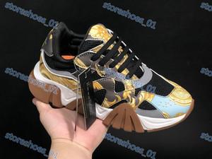 Versace casual shoes hommes Marque xshfbcl chaussures de sport de la chaîne de luxe chaussures confortables dames dames de chenille fond épais casual chaussures plates de tennis