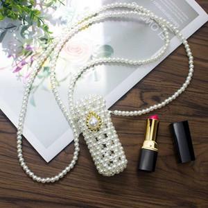Mini Lipstick Pack Handmade Beaded Retro Pearl Bag Fashion Banquet Party Shoulder Bag Evening Clutch