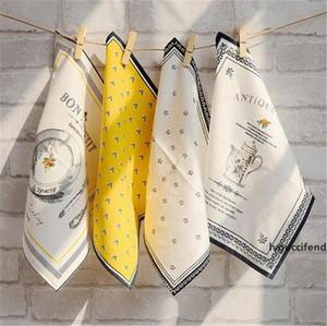 Pure cotton Table napkins European style linen dinner mat restaurant use