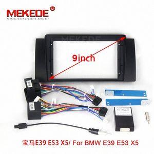 고품질 새로운 더블 라디오 근막의 경우 E90 E46 X5 E53 5 E39 스테레오 간판 프레임 패널 대시 마운트 키트 어댑터 트림 베젤 자동차 DVD의 DVD P WjYK 번호