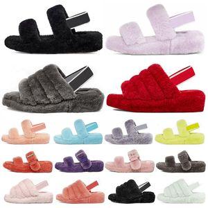 hotsale 2020 women furry slippers slides new arrivel womens sandal keep warm fashion ladies fur sandals winter slipper