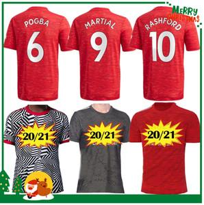 Les hommes adultes + enfants Kit 2020 2021 Manchester ALEXIS Pogba maison Rashford maillot de football 20 21 UNITED maillot de football Sport