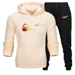High Quality Tracksuit Men Sets Winter Hoodies Pants 2 Piece Set 2020 Fashion Hoody Mens Sweatshirt Sport Joggers Sweatpants Suit
