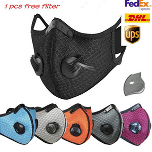 Designer Radfahren New Face Mask Aktivkohle mit Filter PM2.5 Anti-Pollution Sport Running Training Schutz Staubmaske