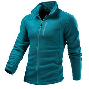 Homens Mulheres Quente Full-zip revestimento macio Polar Top Windbreaker Primavera Outono Outdoor Desportos de Inverno Caminhadas Camping Jacket