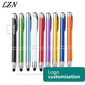 LZN Touch Screen Ballpoint Metal Pen Office Supplies School Button Metal Pen Student Free Engraved Name Text Date as Gift