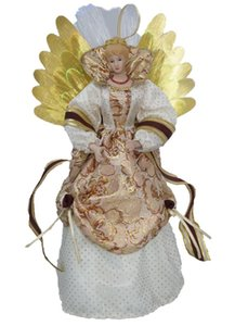 """Cosette Fiber Christmas Angel Tree Topper for Home Decoration Ornaments14"""" ( without battery)"""
