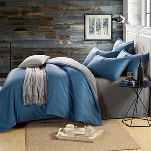 Bed Linen Set 99% Pure Cotton 40S 133*72 High Density Two-color Stitching Bed Sheet Quilt Cover Pillowcase 3-4pcs Bedding Set