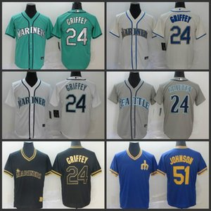Seattle 2020 Mariners Jersey 51 Ichiro Suzuki 24 Ken Griffey Jr. baseball Jersey 06