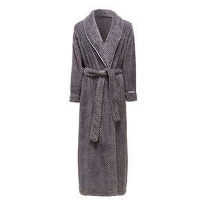 pazoA Thickened and lengthened coral Fleece Women's and men's winter flannel robe morning robe pajamas home clothes home furnishing clothing