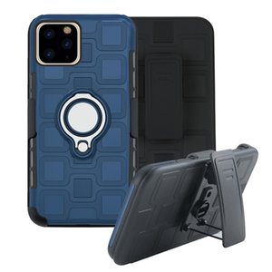 Defend Series Shockproof Armor Kickstand Phone Case for iPhone 11 Pro Max XR XS Max X 7 8 Plus Finger Magnetic Ring Holder Anti-Fall Cover