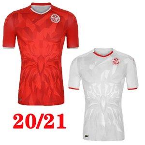 20 21 تونس لكرة القدم الفانيلة 2020 2021 Msakni Khazri السليطي BEN YOUSSE HAMZA المنزل بعيدا قميص كرة القدم مايوه دي القدم