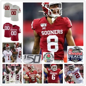 Individuelle Oklahoma Sooners 7 Spencer Rattler Football genähten Jersey personalisiert jeden Name Anzahl Trikots Jalen Hurts Jalen Redmond Pat Felder
