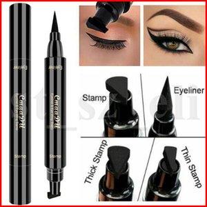 CmaaDu Professional Duplo-end Eyeliner Selo Lápis Suave Pigmentos de Longa Duração delineador Waterproof Eye Liner Pen Maquiagem Cosméticos