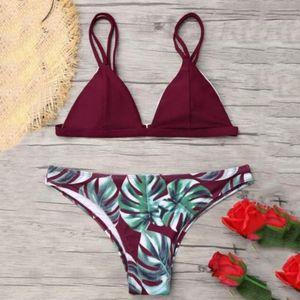 Donne Bikini Swimsuit donna bikini taglia Hawaii due pezzi Swimwear Flessioni Swimwear sexy del bikini del Beachwear Set Bra Nuovo