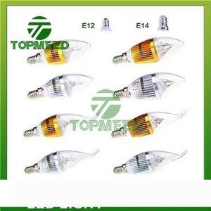 bombilla regulable 9W Cree LED de la vela E14 E12 E27 lámpara de luz LED de alta potencia lámparas LED downlight iluminación de la lámpara 110-240 CE ROHS 100