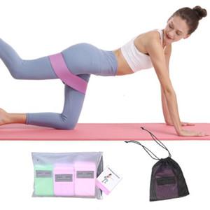 3pcs set Fitness Exercise Gym Fabric Elastic Polyester Hip Booty Circle Resistance Band raining Workout Elastic Yoga Band Cross Training