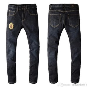 2020 Skinny Jeans Men Designer Cool Guy Patchwork Ripped Bleach Wash Painted Effect Cowboy New Arrivals mens skinny jeans