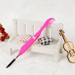 portátil plegable Maquillaje doble profesional Jefe de pestañas peine cepillo de cejas herramienta de venta caliente de alta calidad mini cepillo de pestañas TSLM1
